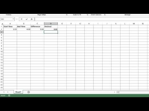How to Convert Excel Time Difference to Decimal Number : MIcrosoft Excel Tips