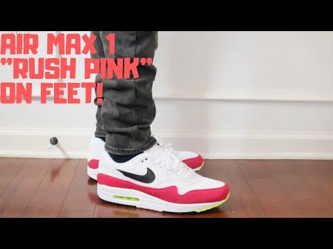 "nike-air-max-1-""rush-pink""-on-feet!"