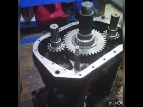 Сбор демультипликатора на китайской коробке передач 9JS135TA(G7610)