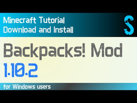 50936e6778 BACKPACKS! MOD 1.10.2 minecraft - how to download and install (with ...