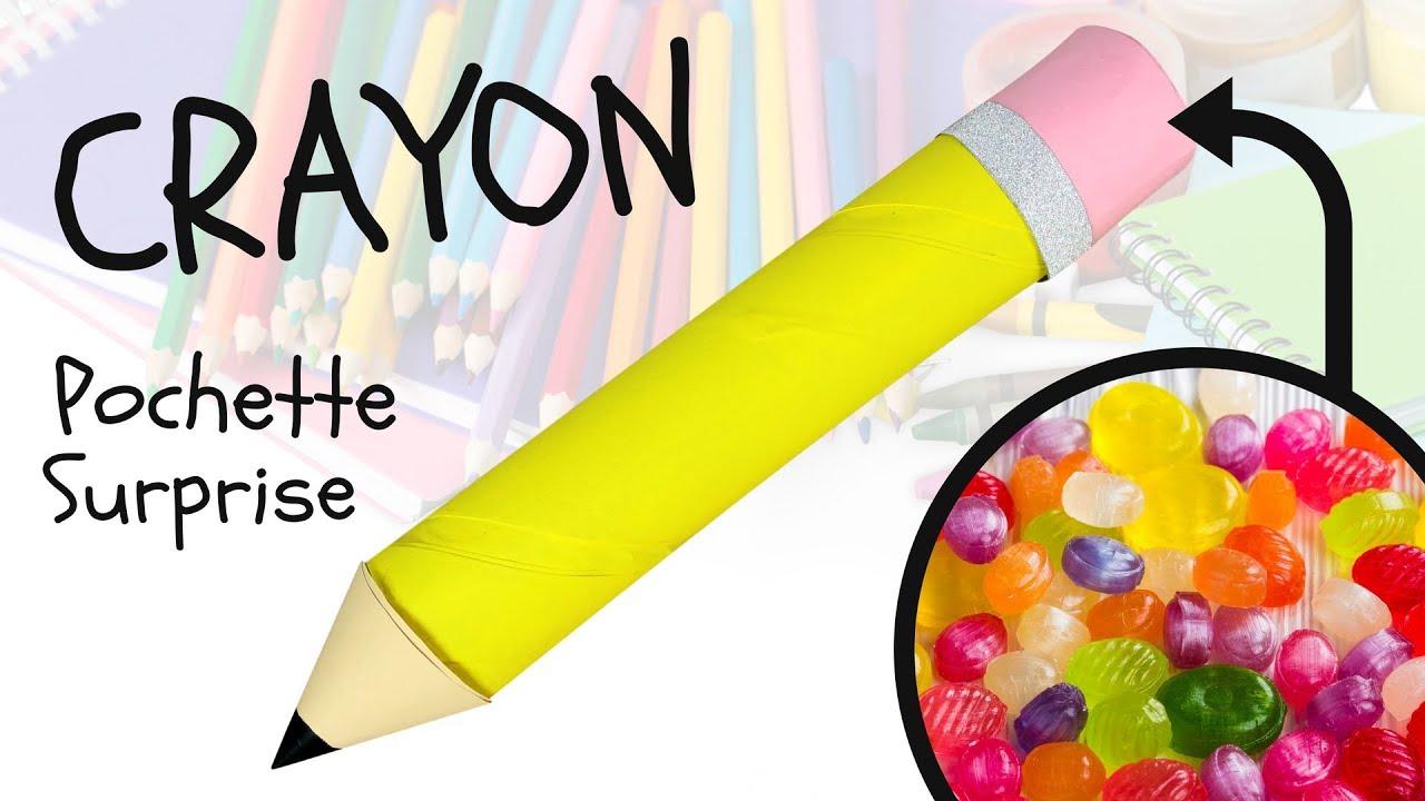 diy rentr e scolaire crayon pochette surprise bricolage facile pour enfants youtube. Black Bedroom Furniture Sets. Home Design Ideas