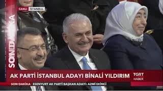 AK Parti İstanbul Büyükşehir Belediye Başkan Adayı Binali Yıldırım Oldu