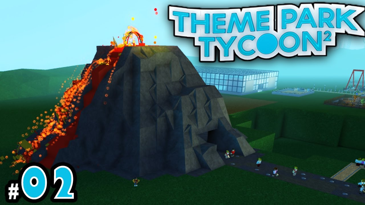 New theme park tycoon ep 2 erupting a volcano youtube for Amusement park decoration games