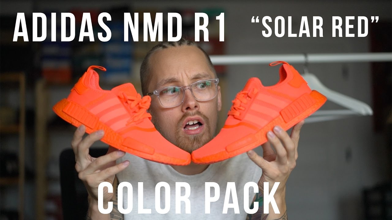 WHAT COLOR ARE THESE SHOES?   Adidas NMD R1 Solar