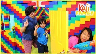 No Girls Allow Box Fort Lego Pretend Play Fun and The Floor is Lava Challenge!!!