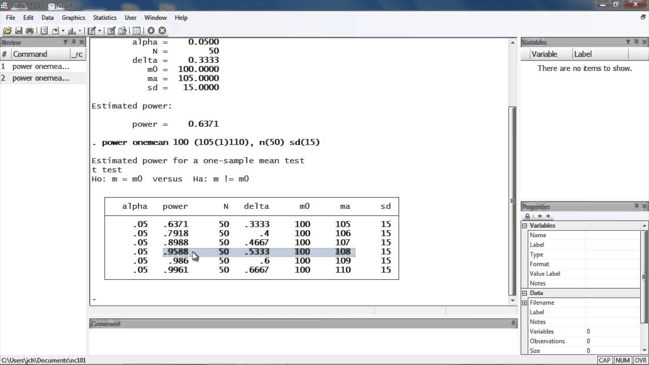 Power calculation for comparing a sample mean to a reference value ...