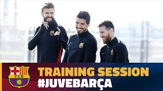 Barça's workout before the trip to Turin