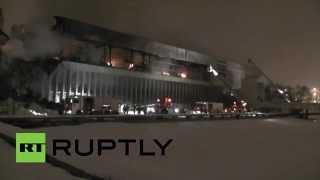 В Москве произошел крупный пожар в библиотеке ИНИОН