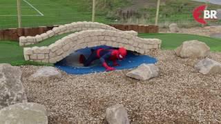 burnley s own spider man keeping kids safe from killer clowns