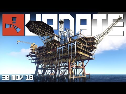 OIL RIG model nearly done, ELECTRICITY improvements | Rust u
