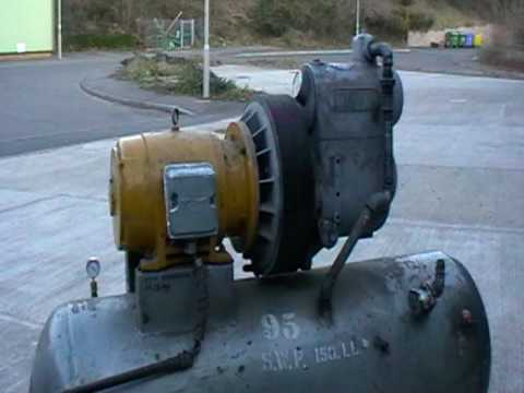 Hydrovane 66 Air Compressor For Sale on eBay - YouTube