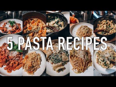 5 QUICK & EASY PASTA DISHES | VEGETARIAN RECIPES