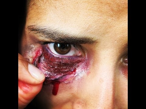 SFX MAKEUP TUTORIAL - Ripped/Bloody Eye for Halloween