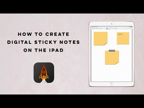 How to create Digital Sticky Notes on the IPad ? + Free Sticky Notes | The-PinkInk.com