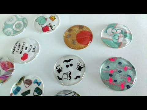 DIY EPOXY BUTTONS | EMBELLISHMENT TUTORIAL | FLAIR BUTTONS | EPOXY STICKERS