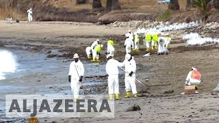 California deploys hundreds in oil spill clean-up