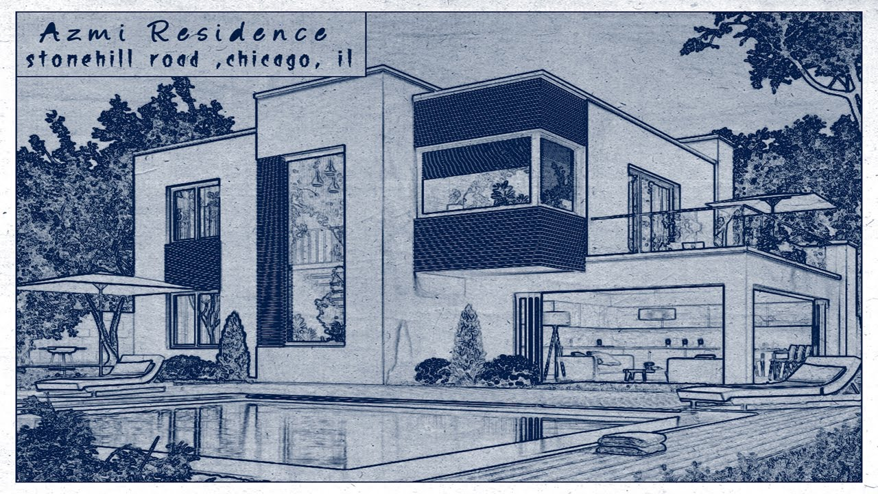 Photoshop Tutorial: How to Transform a Photos into an Architect's blueprint Drawing