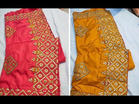 Beautiful Silk Sarees With Heavy Gota Patti Work   Machine Gota Embroidery Sarees (2021)