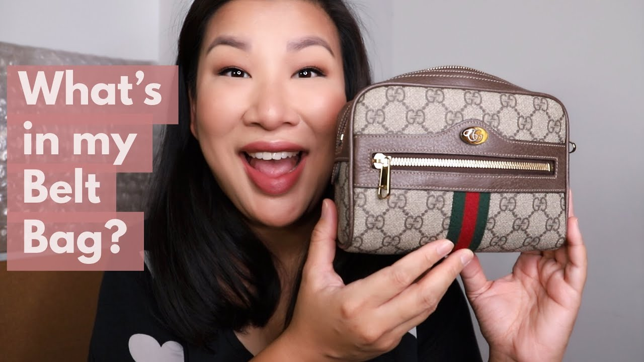 e9222e99900 What s in my bag  Gucci Ophidia GG Small Belt Bag - YouTube
