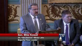 Sen. Kowall expresses support for autonomous vehicles legislation