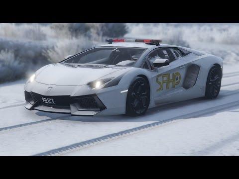 GTA 5 LSPDFR #27 - Lamborghini Snow Patrol (SAHP Aventador)