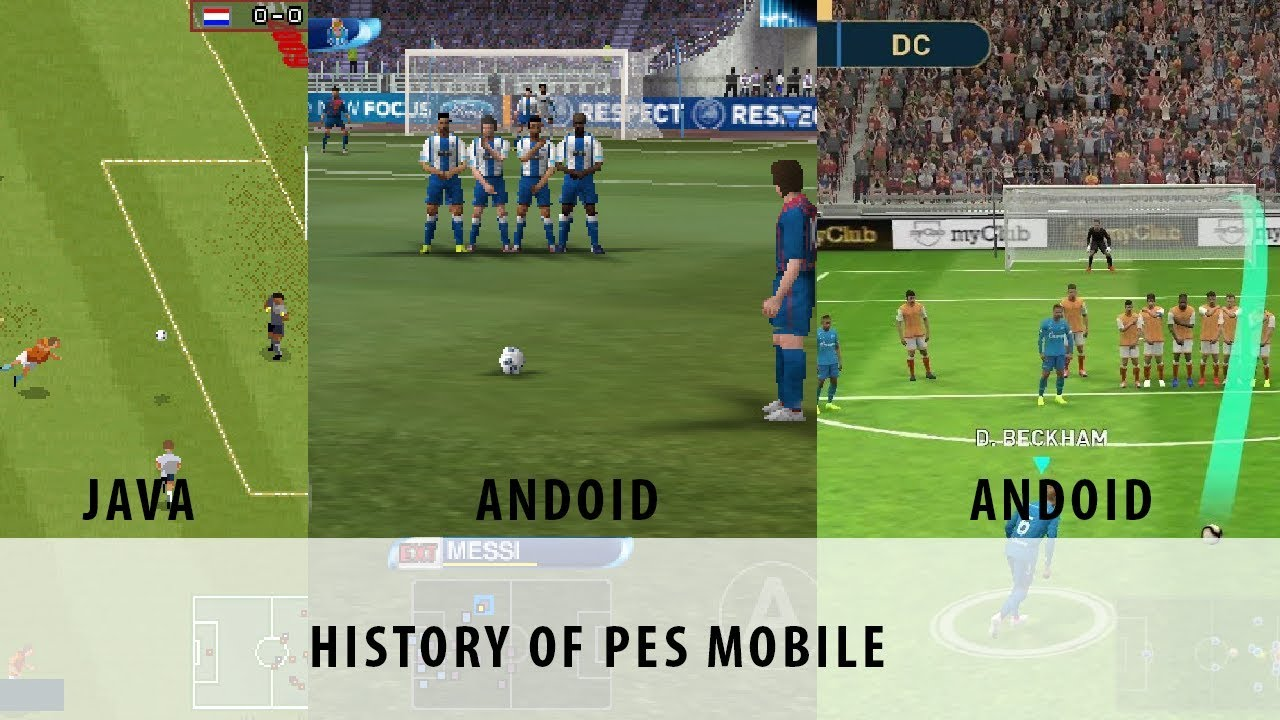 Download History of PES Mobile Java to Android (2008-2019)