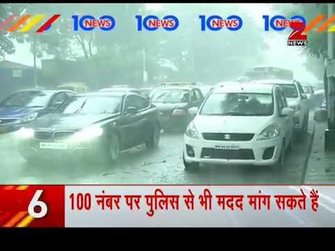 News 100: Navy distributes breakfast amid rainfall in Mumbai | मुंबई के परेल में नेवी की समाजसेवा