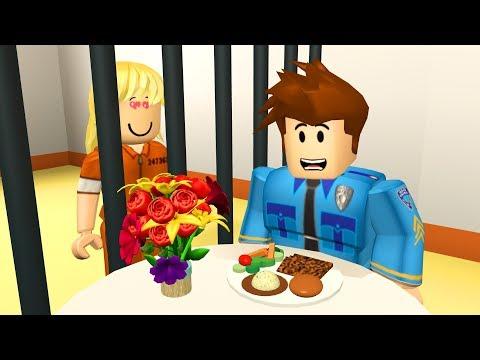 CRIMINAL DATES POLICE OFFICER IN PRISON! - Roblox Jailbreak Roleplay