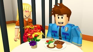 CRIMINAL DATES POLICE OFFICER IN PRISON! - Roblox Jailbreak Roleplay