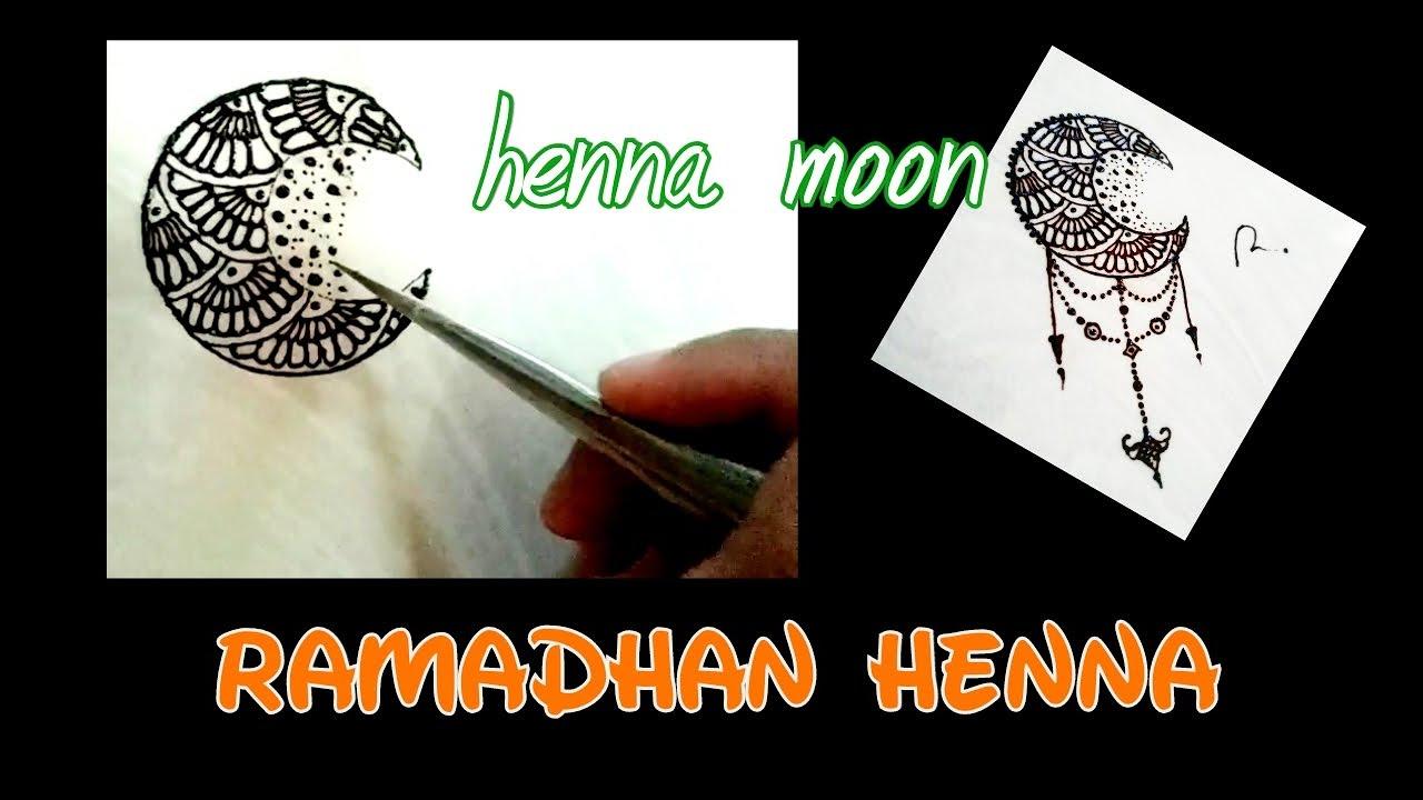 Ramadhan Henna Moon Design | Belajar Henna