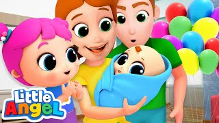 Download Meet Our Baby Brother! New Baby Song | Nursery Rhymes by Little Angel Mp3 and Videos
