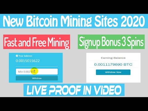 New free Bitcoin mining sites 2020 | Earn Bitcoin with live proof