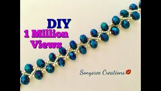 DIY Beaded bracelet Gorgeous ,Stunning , Fantabulous 😃👏🏼👱🏻♀️👩🏻