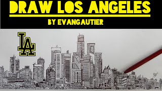 How to Draw a CITY (Los Angeles)  - EvanGautier