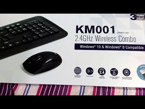 Targus KM001 Wireless Keyboard and Mouse combo black Unboxing and review hindi