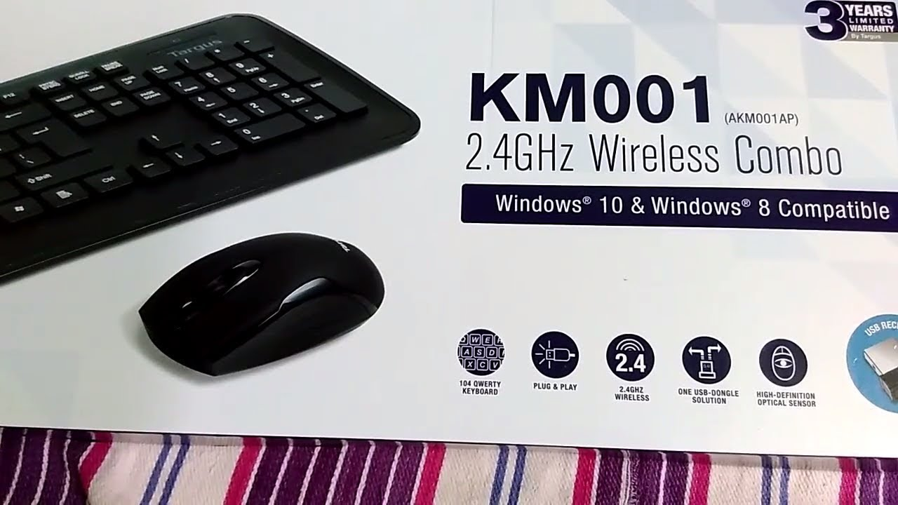 76c2aa8cfac Targus KM001 Wireless Keyboard and Mouse combo black Unboxing and review  hindi