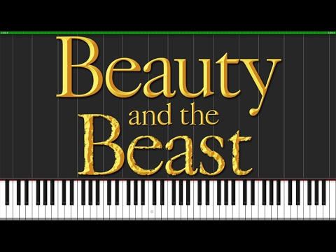 Tale As Old As Time  Beauty and the Beast Piano Tutorial Synthesia  Wouter van Wijhe