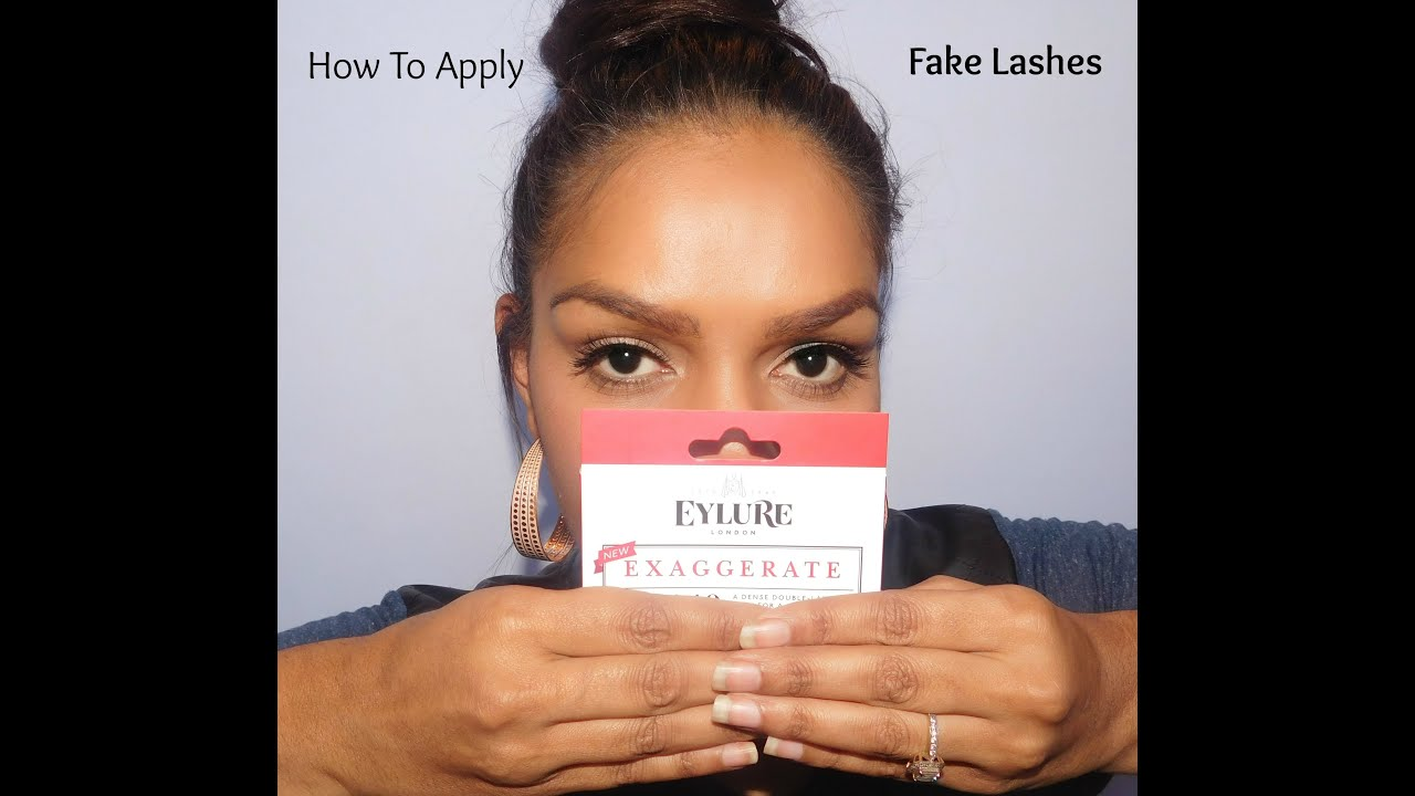 How To Apply False Lashes For Beginners Youtube