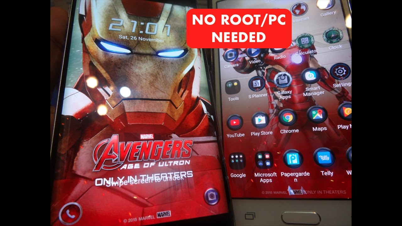 How To Download Iron Man Theme Edition For Any Samsung Device Free