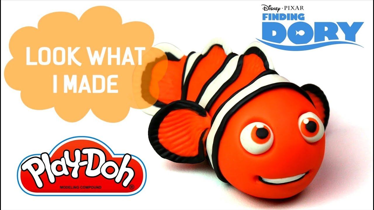 Play Doh Finding NEMO - Kids Having Fun with Mixing Colors in Animal ...