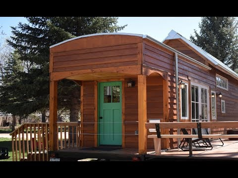 LUXURY TINY HOUSE in the MOUNTAINS \\ tour this 400 sq.ft. custom built tiny home