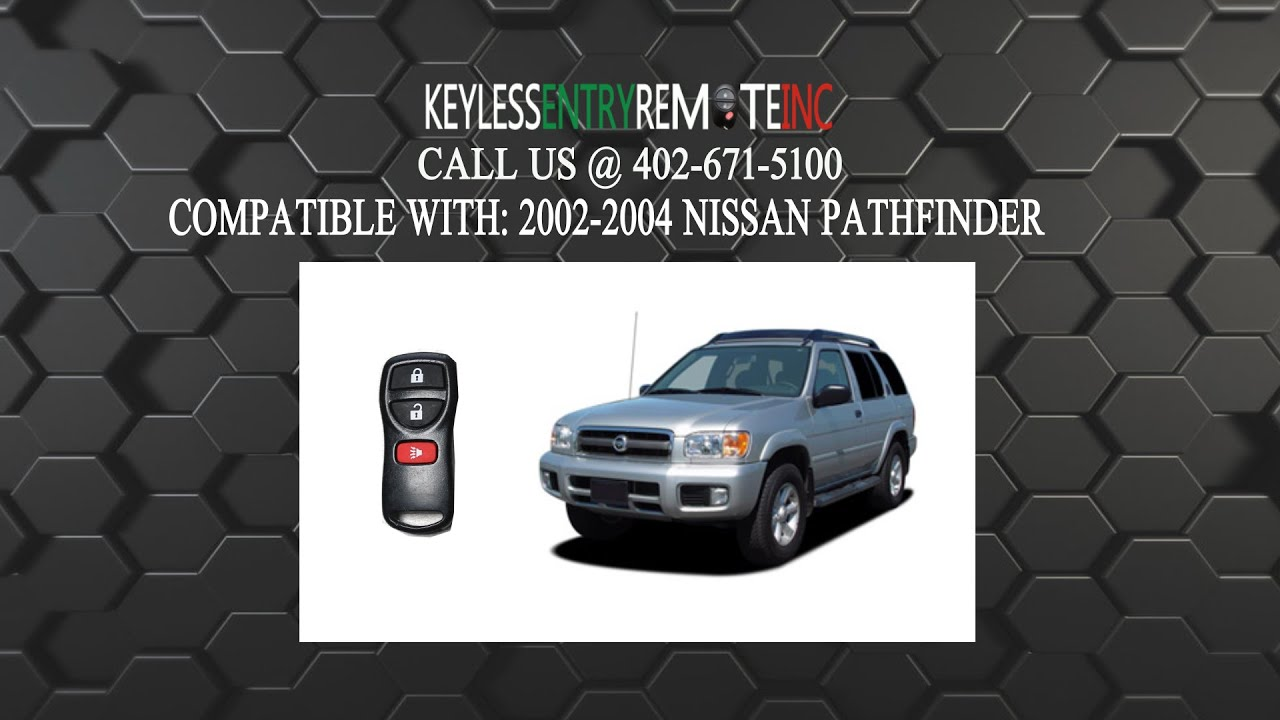How To Replace Nissan Pathfinder Key Fob Battery 2002 2003 2004