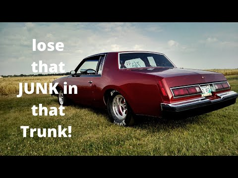 Race Car Weight Reduction - Junk In The Trunk. Removing Inner Trunk Support