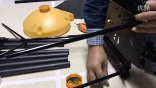 The way of assembling frame of JMR V1000 agriculture uav drone