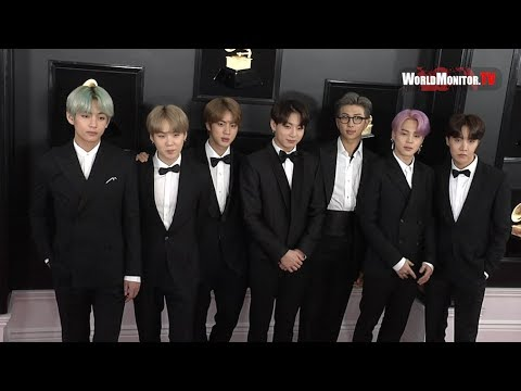 BTS arrive at 2019 Grammy Awards Red carpet in Los Angeles