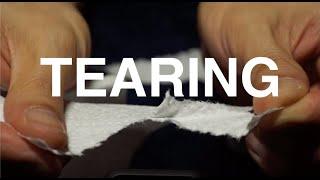 [ASMR]키친타올 티슈 종이 찢는 소리 tearing…