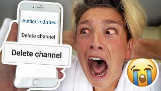 I DELETED MORGZ'S CHANNEL!!! (Mom Deleting Kids Channel PRANK)