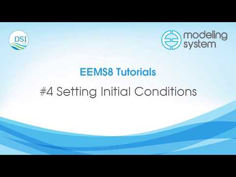 4 Setting Initial Conditions EFDC Explorer - YouTube