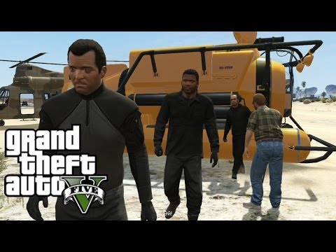 GTA 5 Walkthrough Part 11. Scouting the Port. Minisub. Cargobob. The Merryweather Heist
