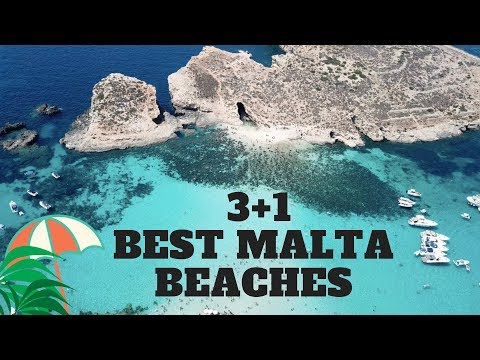 TOP 3 Best Beaches on MALTA ( + Blue LAGOON )